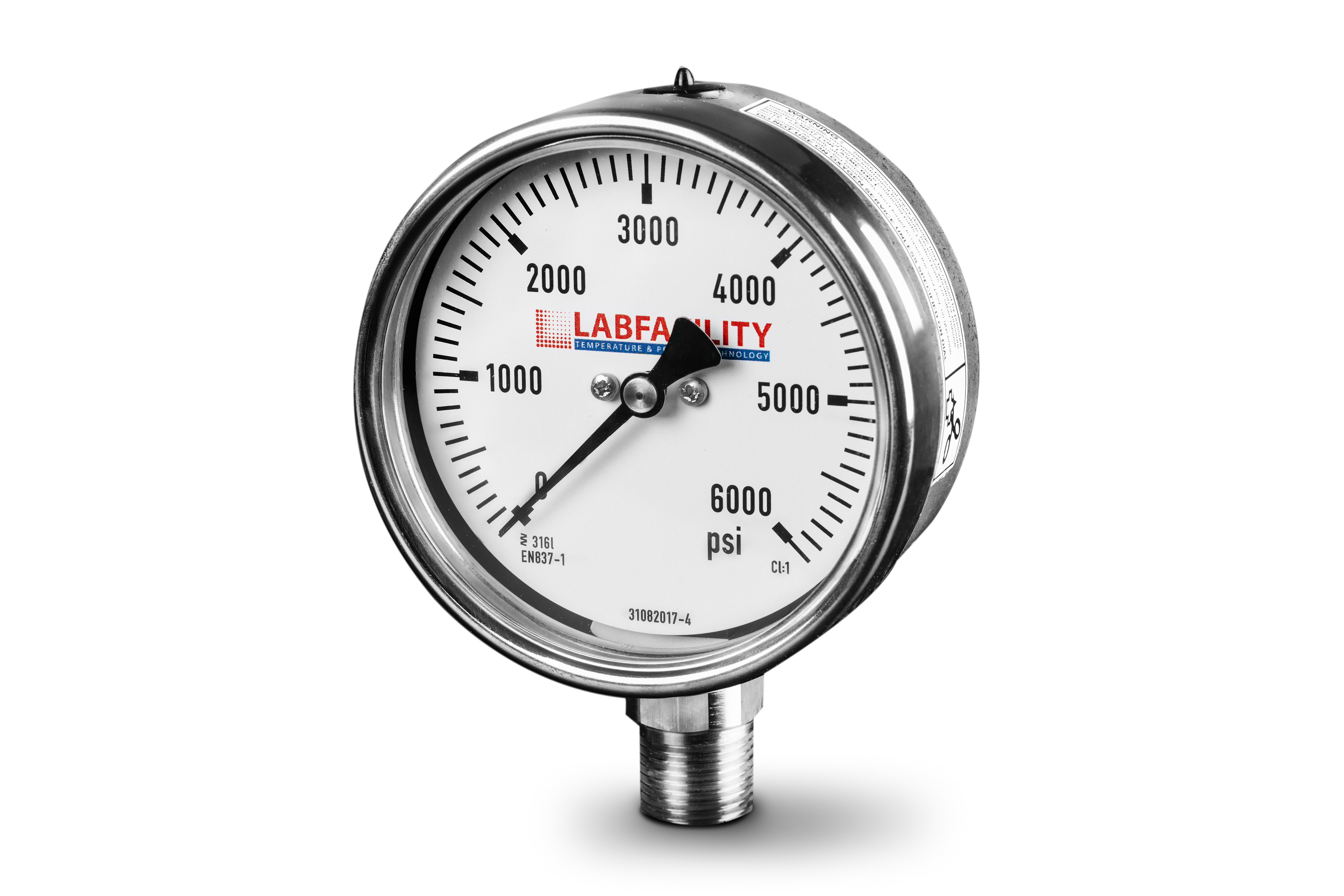 Stainless Steel Pressure Gauges - Bottom Entry Style