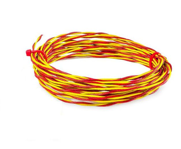 High Temperature Glassfibre Twin Twisted Thermocouple Cable / Wire ANSI