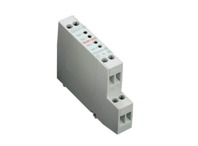 SEM213TC Push button Thermocouple DIN rail temp transmitter