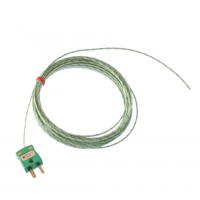 Glassfibre insulated IEC Exposed Junction Thermocouple - Various Types