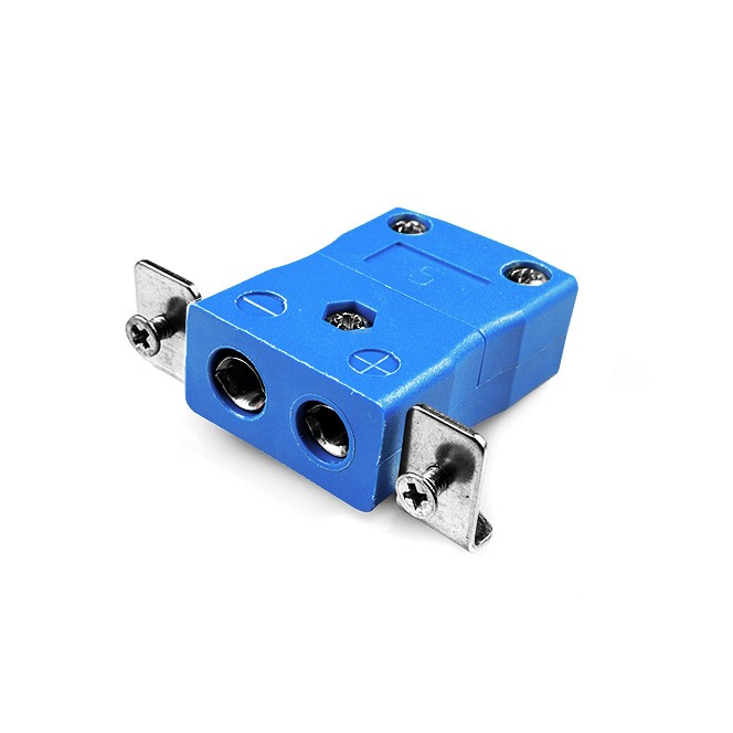 Standard Panel Mount Thermocouple Connector with Stainless Steel Bracket AS-T-SSPF Type T ANSI