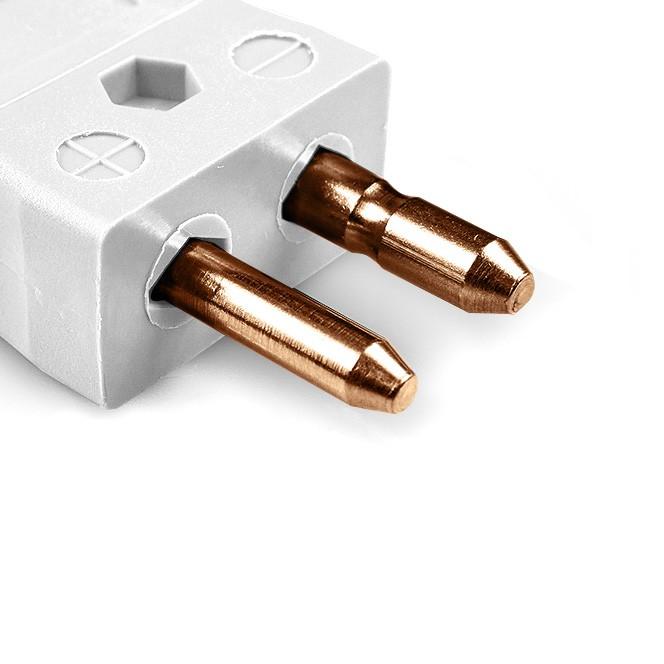 Standard thermocouple connector plug type cu