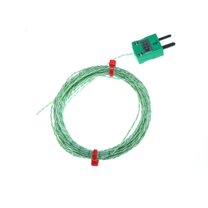 PTFE insulated IEC Exposed Junction Thermocouple - Various Types