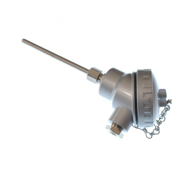 Pt100 4 wire class B Resistance Thermometer, Compact KNS Head RTD / PRT