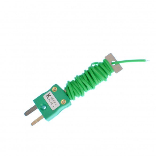 Cable / Wire Tidy Thermocouple with Fitted Miniature IEC Plug (PFA Twin Twisted or Flat Pair)