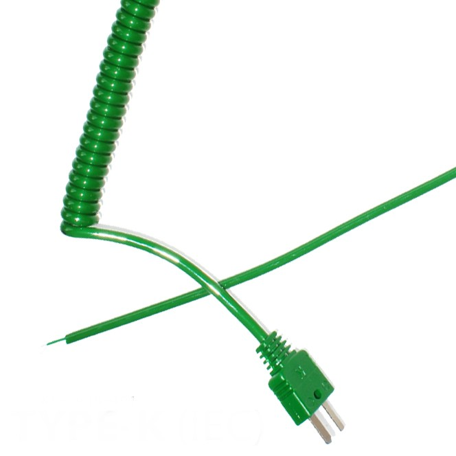 Type K Retractable Curly Thermocouple Lead (IEC)