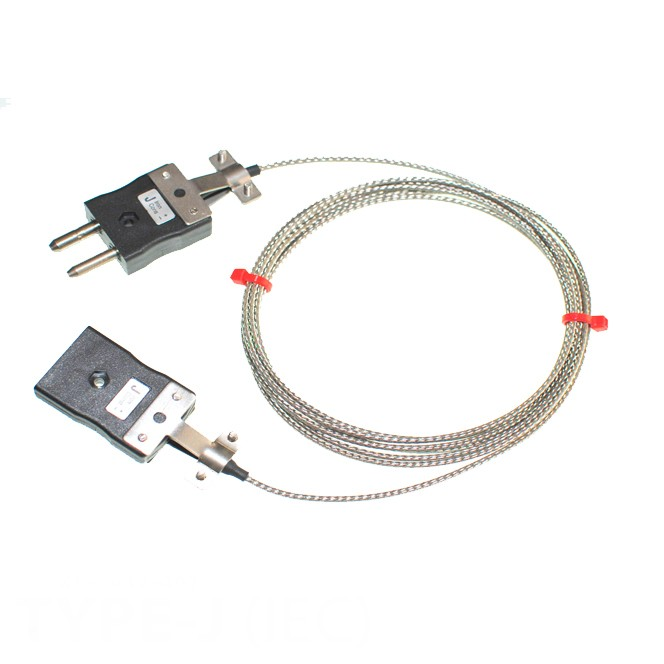 Type J Glassfibre Thermocouple Extension Leads with Standard Plug & Sockets (IEC)