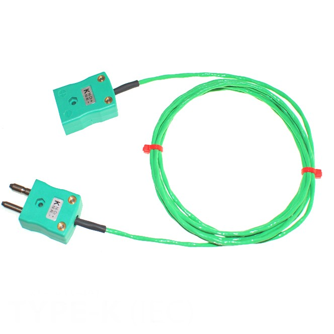 Type K PFA Thermocouple Extension Leads with Standard Plug ...