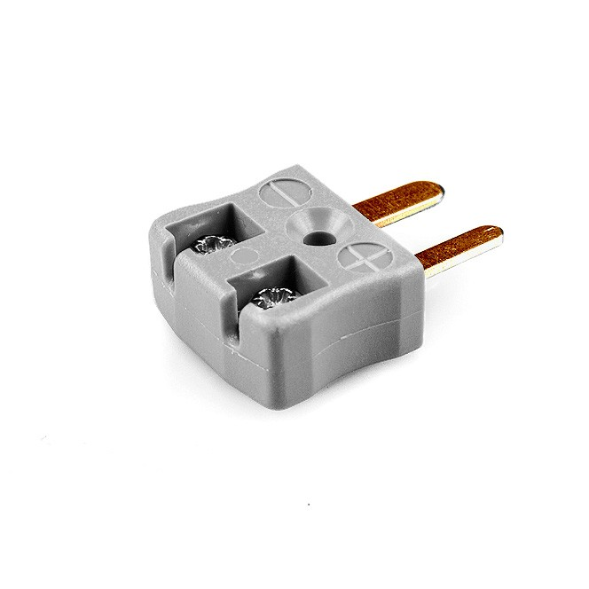 Miniature Quick Wire Thermocouple Connector Plug AM-B-MQ Type B ANSI