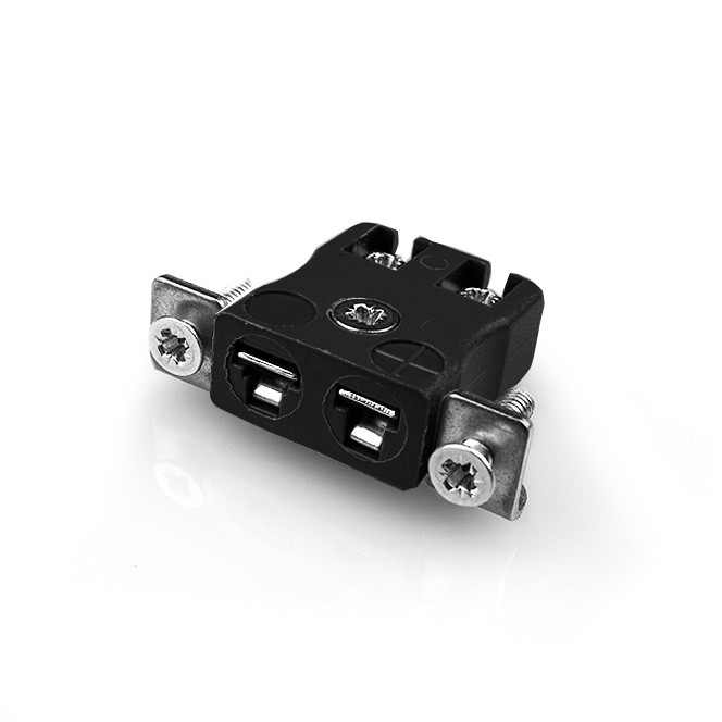 Miniature Quick Wire Panel Mount Thermocouple Connector with Stainless Steel Bracket JM-R/S-SSPFQ Type R/S JIS