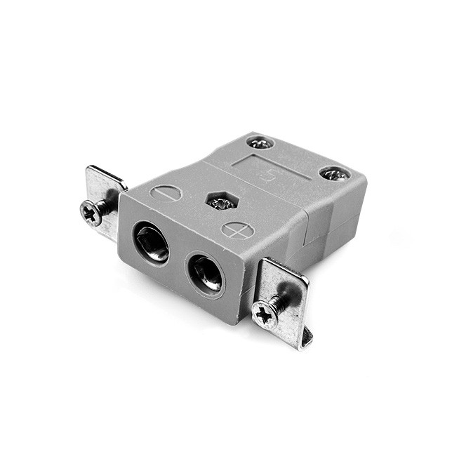 Standard Panel Mount Thermocouple Connector with Stainless Steel Bracket JS-B-SSPF Type B JIS
