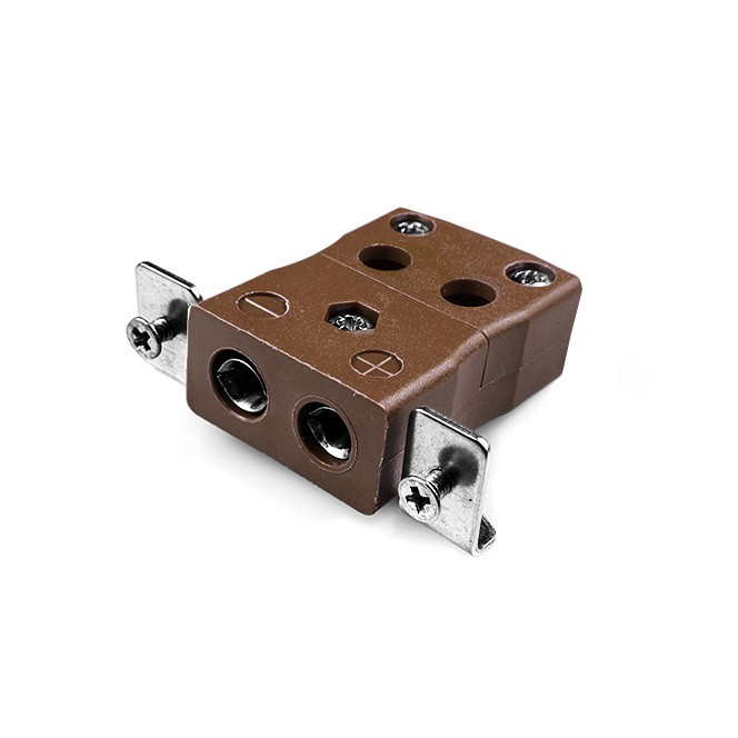 Standard Quick Wire Panel Mount Thermocouple Connector with Stainless Steel Bracket JS-T-SSPFQ Type T JIS