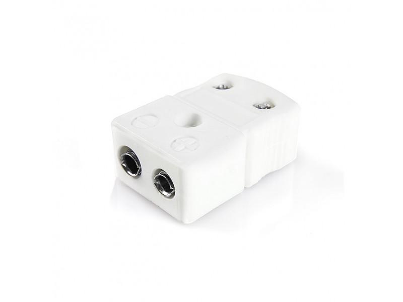Standard High-Temperature (650°C) Ceramic Thermocouple Socket IS-J-F-HTC Type J IEC