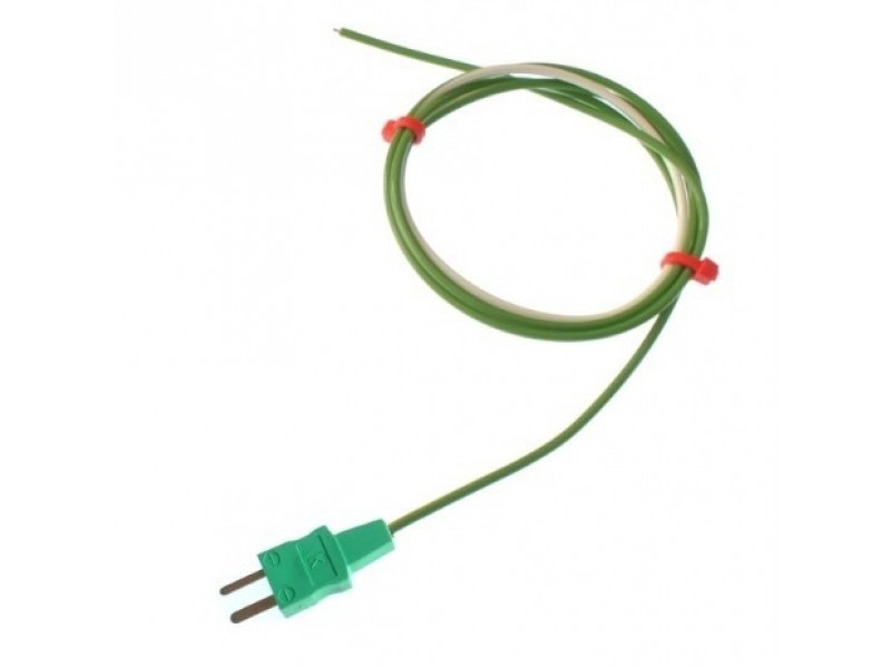 PTFE Single Shot Exposed Junction Thermocouple with Moulded-on Miniature Plug