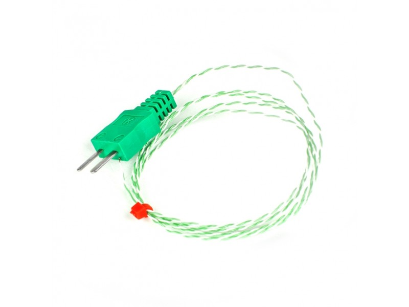 Exposed Junction thermocouple with Moulded on Miniature type K or T IEC Plug