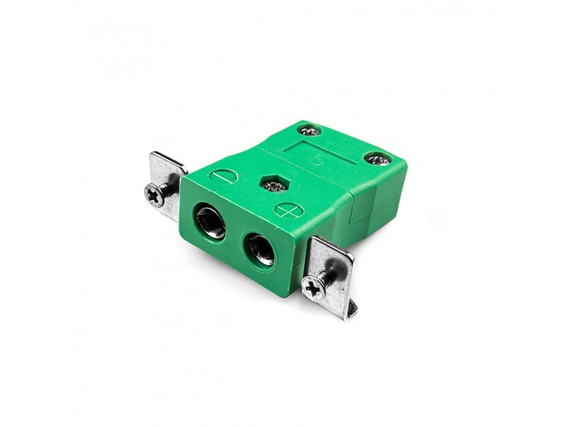 Standard Panel Mount Thermocouple Connector with Stainless Steel Bracket IS-K-SSPF Type K IEC