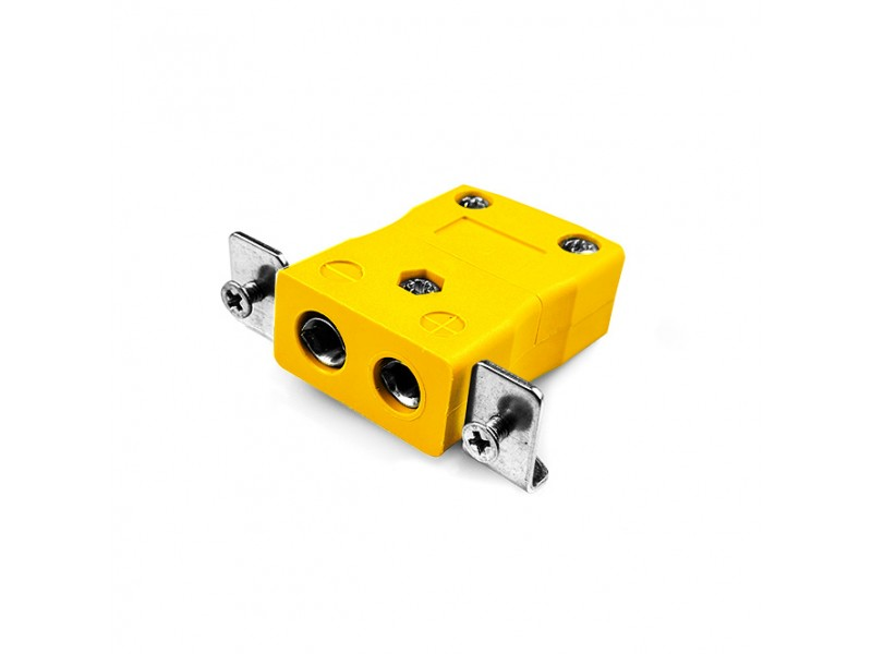 Standard Panel Mount Thermocouple Connector with Stainless Steel Bracket AS-K-SSPF Type K ANSI
