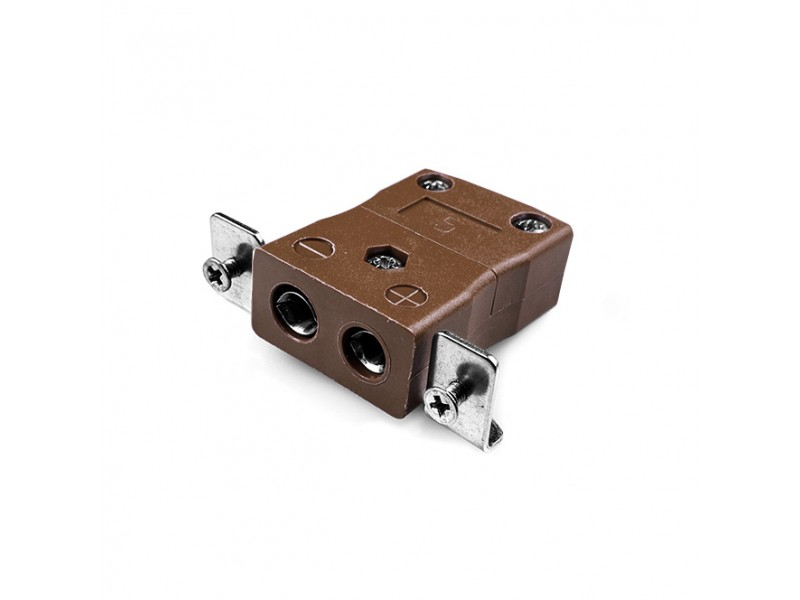 Standard Panel Mount Thermocouple Connector with Stainless Steel Bracket IS-T-SSPF Type T IEC