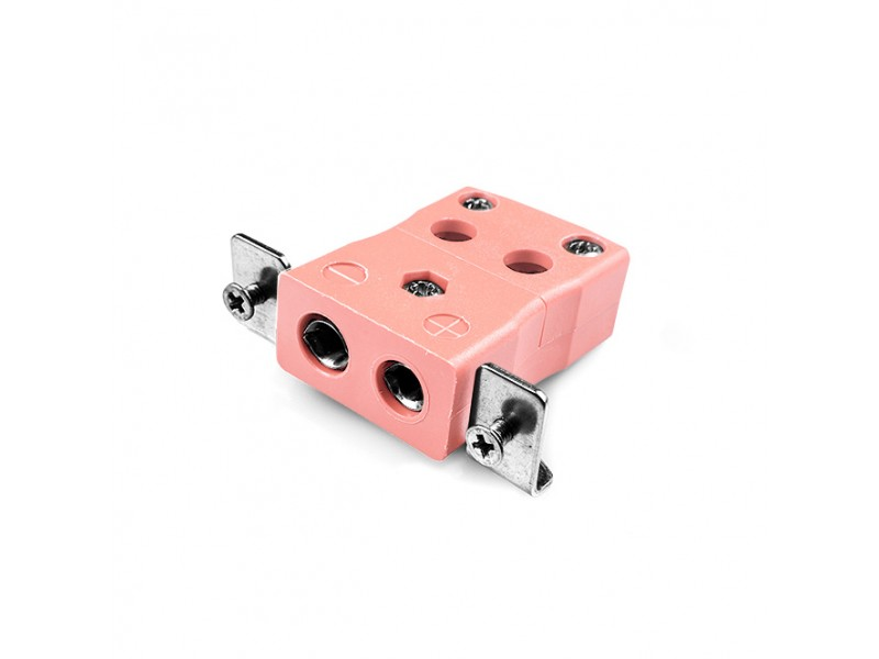 Standard Quick Wire Panel Mount Thermocouple Connector with Stainless Steel Bracket IS-N-SSPFQ Type N IEC