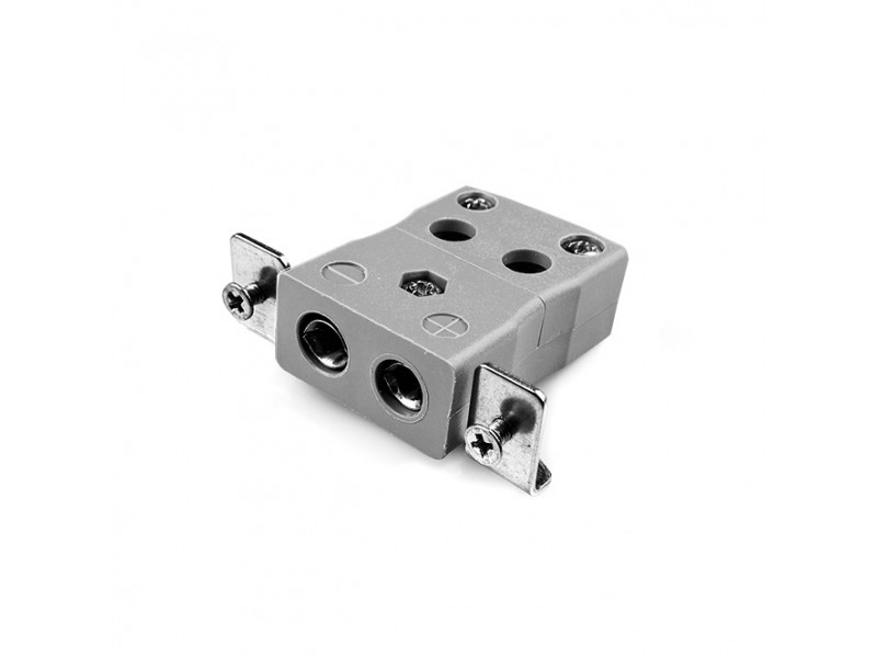 Standard Quick Wire Panel Mount Thermocouple Connector with Stainless Steel Bracket IS-B-SSPFQ Type B IEC