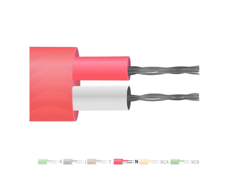 Type N PVC Insulated Flat Pair Thermocouple Cable / Wire (IEC)