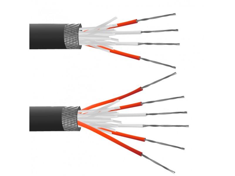 6 Core PFA Insulated, Tin Plated Copper Screen, PRT Sensor Cable / Wire