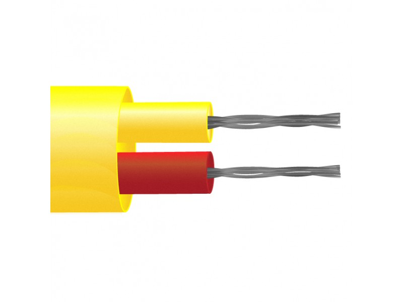 Type K PFA Insulated Flat Pair Thermocouple Cable / Wire (ANSI)