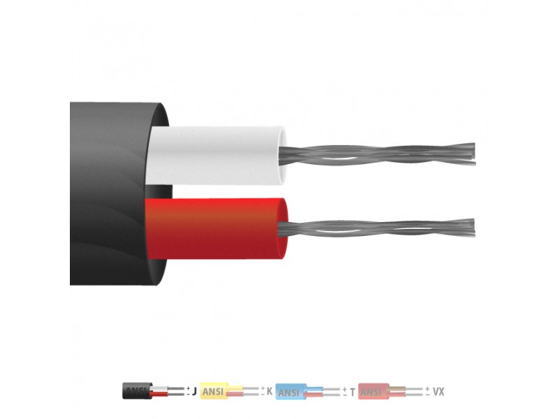 Type J PVC Insulated Flat Pair Thermocouple Cable / Wire (ANSI)