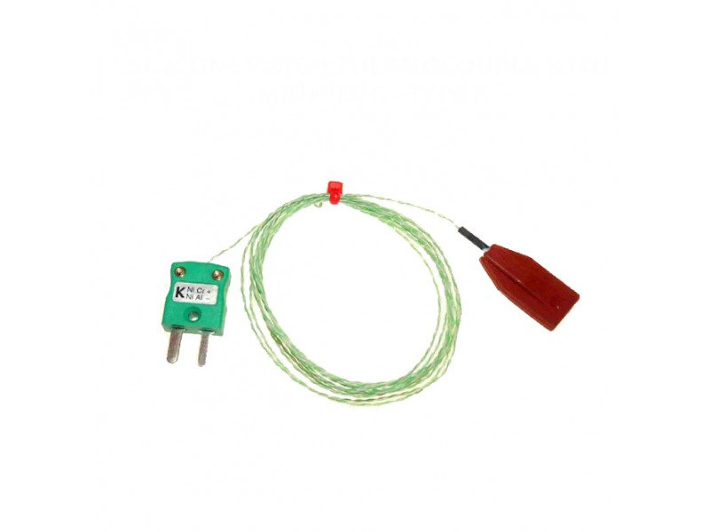 Silicone Patch Thermocouple with Miniature Plug Type K IEC