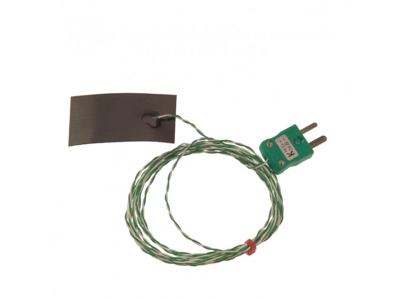 Magnetic Strip Thermocouple with Miniature Plug Type K IEC