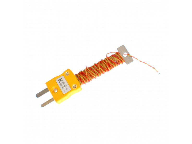 Cable / Wire Tidy Thermocouple with Fitted Miniature ANSI Plug (PFA Twin Twisted)