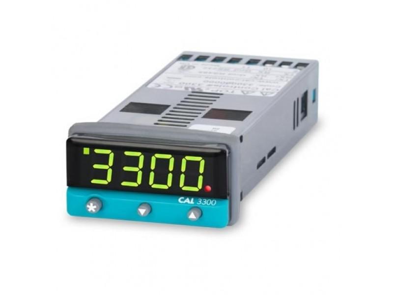 CAL Single Loop Temperature Controller 3300 - SSD & Relay O/Ps, 12-24V AC/DC