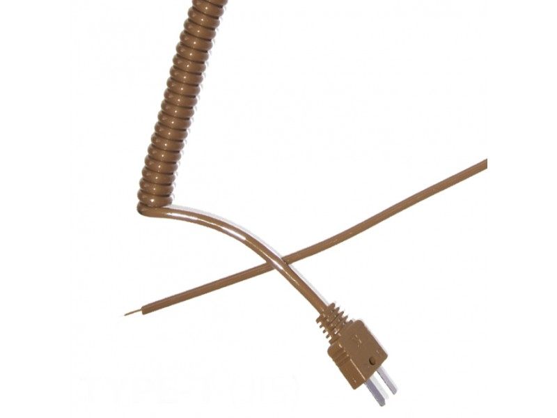 Type T Retractable Curly Thermocouple Lead (JIS)