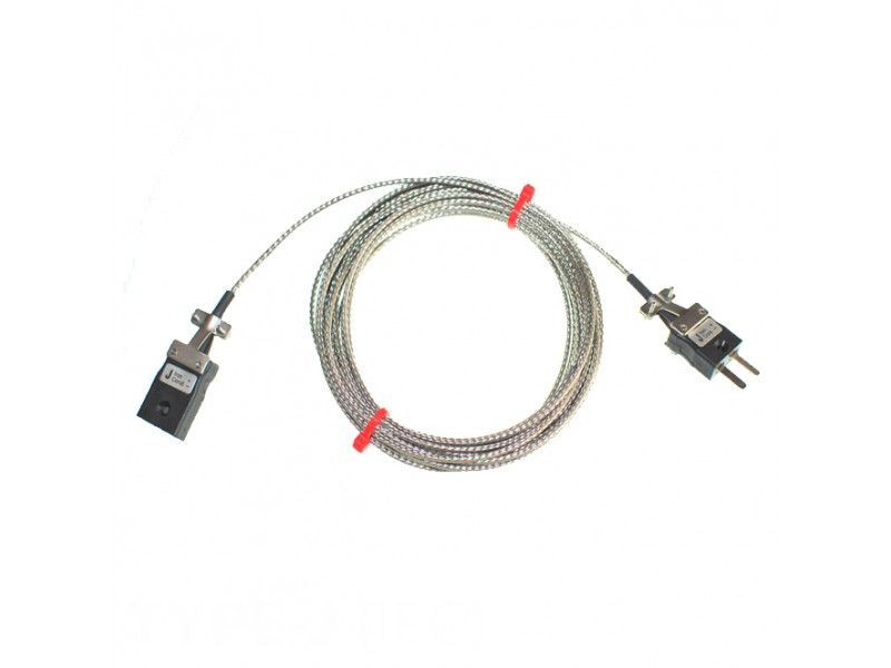 Type J Glassfibre Thermocouple Extension Leads with Miniature Plug & Sockets (IEC)