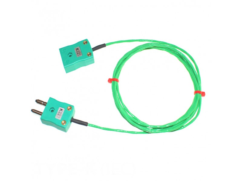 Type K PFA Thermocouple Extension Leads with Standard Plug & Socket (IEC)