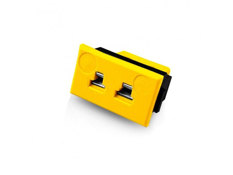 Miniature Rectangular Fascia Socket Thermocouple Connector JM-J-FF Type J JIS