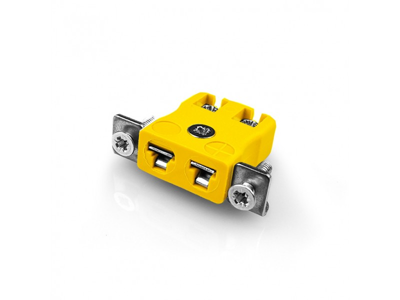 Miniature Quick Wire Panel Mount Thermocouple Connector with Stainless Steel Bracket JM-J-SSPFQ Type J JIS