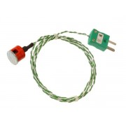 Button Magnet Thermocouple with Miniature Plug Type K