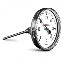 Bi-Metal Thermometer Temperature Gauges - Any Angle Entry Style