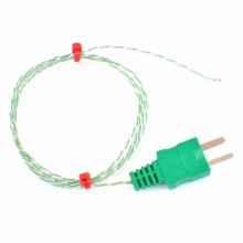 Exposed Junction thermocouple with Moulded on Miniature type K IEC Plug