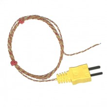 Exposed Junction thermocouple with Moulded on Miniature type K ANSI Plug