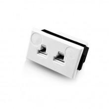 Miniature Rectangular Thermocouple Connector Fascia Socket FMTC-CU-FF Type Cu