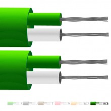 Type VX (KCB) PVC Insulated Flat Pair Thermocouple Cable / Wire (IEC)
