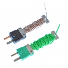 PFA Cable / Wire Tidy Thermocouple with Fitted Miniature IEC Plug - Various Types