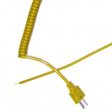 Type K Retractable Curly Thermocouple Lead (ANSI)