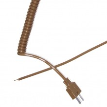 Type T Retractable Curly Thermocouple Lead (IEC)
