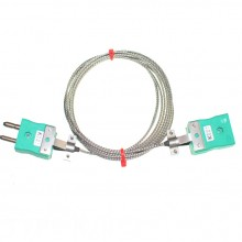 Type K Glassfibre Thermocouple Extension Leads with Standard Plug & Sockets (IEC)