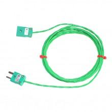 Type K PFA Thermocouple Extension Leads with Miniature Plug & Socket (IEC)