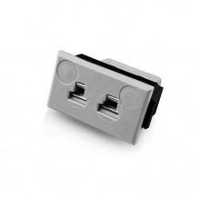 Miniature Rectangular Fascia Socket Thermocouple Connector JM-B-FF Type B JIS