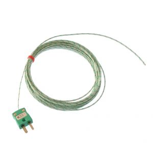 Glassfibre insulated IEC Exposed Junction Thermocouple - Types K,J,T